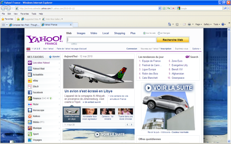how to make yahoo my homepage on windows 10